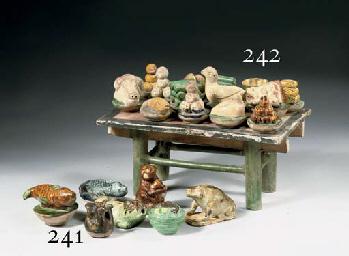 A sancai-glazed pottery model