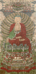 A Chinese painting with Buddha