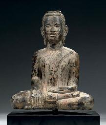 A Post Angkor bronze figure of