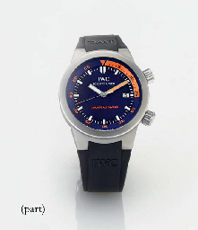 IWC A LIMITED EDITION STAINLESS STEEL AUTOMATIC DIVER'S WRIS...