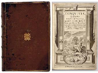 argensola, bartolome leonardo y (1562-1631). <i>conquista de las islas malucas.</i> madrid: alonso martin, 1609.