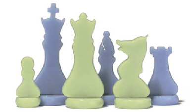 AN ART DECO BAKELITE CHESS SET