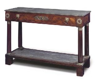AN EMPIRE MAHOGANY PIER TABLE