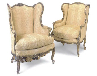 A MATCHED PAIR OF GILTWOOD BER