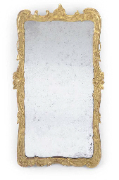 A GEORGE III GILT GESSO MIRROR