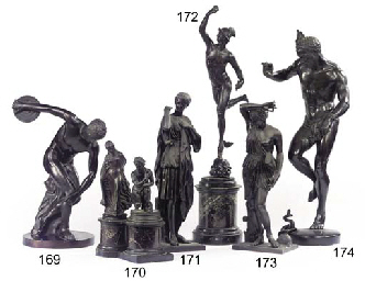 AN ITALIAN BRONZE MODEL OF DIS