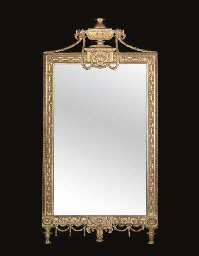 A GOLD PAINTED MIRROR
