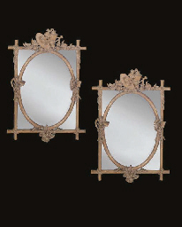 A PAIR OF COMPOSITION MIRRORS