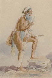 Study of a Plains Indian