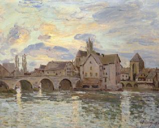 Le pont de Moret au soleil cou