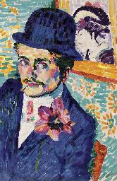 L'homme à la tulipe (Portrait