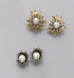 A GROUP OF NATURAL AND CULTURED PEARL JEWELLERY