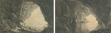A Grotto in the Gulf of Salerno, Morning; and A Grotto in the Gulf of Salerno, Evening