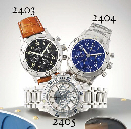 BREGUET. A STAINLESS STEEL AUTOMATIC FLY-BACK CHRONOGRAPH WRISTWATCH