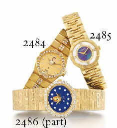 PIAGET A LADY'S 18K GOLD WRISTWATCH WITH DIAMOND, MOTHER-OF-...