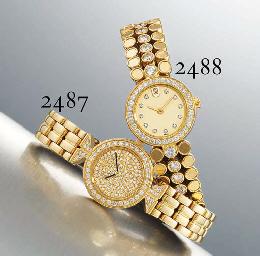 VACHERON CONSTANTIN A LADY'S 18K GOLD AND DIAMOND-SET WRISTW...