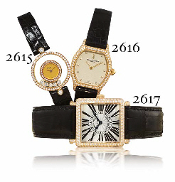 VACHERON CONSTANTIN A LADY'S 18K GOLD AND DIAMOND-SET TONNEA...