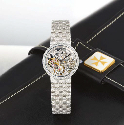 VACHERON CONSTANTIN A LADY'S 18K WHITE GOLD AND DIAMOND-SET ...
