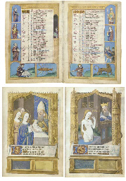 BOOK OF HOURS, use of Rome, in Latin and French, ILLUMINATED...