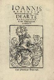 REUCHLIN, Johannes (1455-1522) De Arte Cabalistica Hagenau: ...