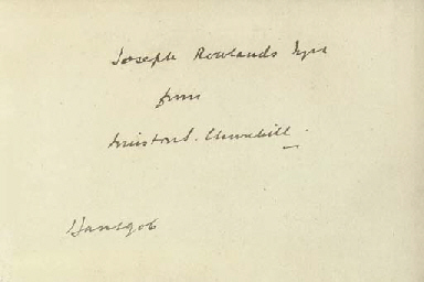 CHURCHILL, Winston Spencer (1874-1965) Lord Randolph Churchi...