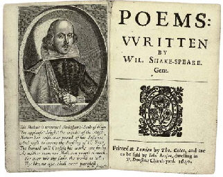 SHAKESPEARE, William (1564-1616) Poems London: printed by Th...