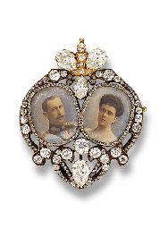AN HISTORIC ROYAL PORTRAIT MINIATURE BROOCH, BY KOECHLI