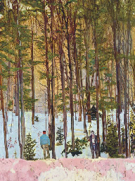 Peter Doig B 1959 Figures In Trees Christie S