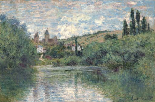 christies   Claude Monet    La Seine et les c?teaux de Chantemesle  的图像结果