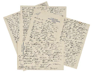 MONET, Claude (1840-1926) Three autograph letters signed ('t...