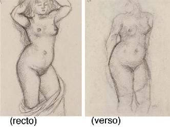 Nue debout (recto and verso)