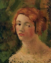 Portrait de femme aux chevaux
