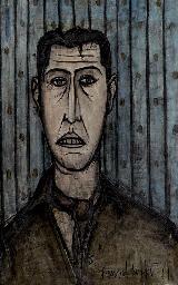 Portrait d'homme au foulard