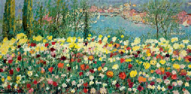 Paesaggio floreale