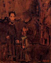 Children in Red Landscape