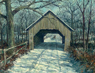 Covered Bridge, Fairfax, Vermo