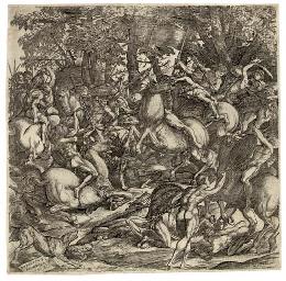 Battle of the Nude Men (B. 10)