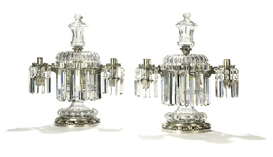 A PAIR OF WILLIAM IV CUT-GLASS