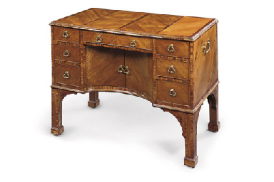 A GEORGE III SABICU AND KINGWOOD DRESSING-TABLE