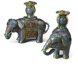 A PAIR OF CHINESE POLYCHROME C