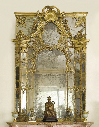 A NORTH ITALIAN GILTWOOD OVERM