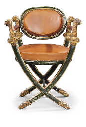 A LATE EMPIRE PARCEL-GILT AND