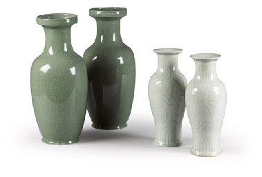 A GROUP OF CELADON WARES