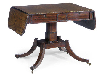 AN EARLY VICTORIAN ROSEWOOD SO