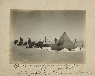 British Antarctic Expedition, 1910-1913: a collection of 35 contact prints taken by Ponting at Cape Evans, and by Scott and Bowers on the southern journey