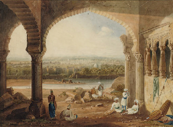 Aurungabad, from the Ruins of Aurungzebe's Palace (from a Sketch by Capt. Grindlay)
