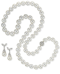 A SOUTH SEA CULTURED PEARL SET