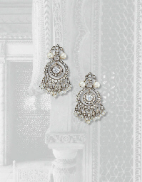 AN ELEGANT PAIR OF DIAMOND, PE