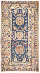 An antique Khotan carpet
