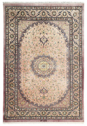 An extremely fine silk rug